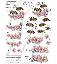 Decomania 3D Paper - Summer Birds - Cod.3D006