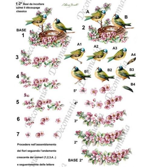 Decomania 3D Paper - Birds - Cod.3D005