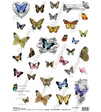 Decomania Transfer Paper - Butterflies - Cod.TRA016