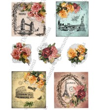 Decomania Transfer Paper - Cities & Roses - Cod.TRA035