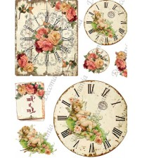 Decomania Transfer Paper - Rose Angel Watch - Cod.TRA044