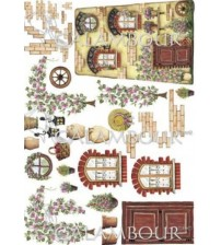 Decoupage Calambour - Rice Paper - C008 - 48x33cms