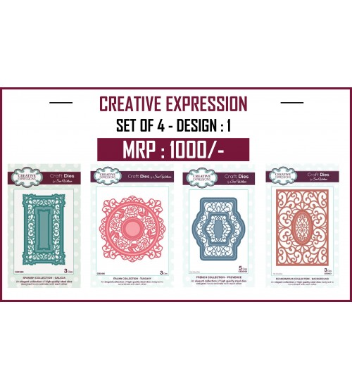 Creative Expressions Cutting Die - Set 1