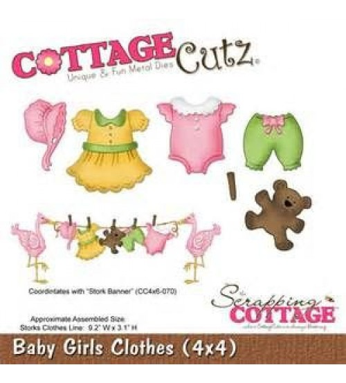 Die-Baby Girls Clothes (4×4)