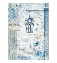 Decoupage Stamperia - A4 Rice Paper - Blue Land Lamp