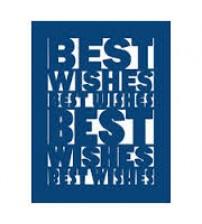Die - Best Wishes Plaque