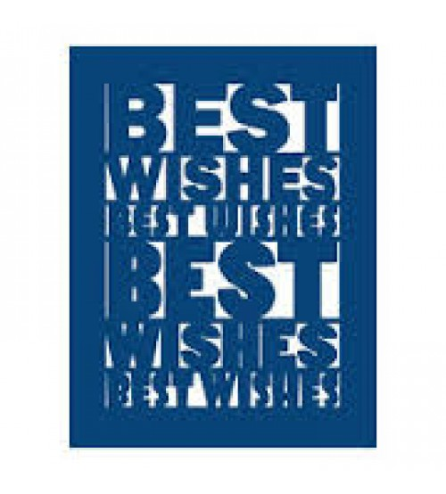 Die - Best Wishes Plaque
