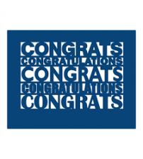 Die - Congratulations Plaque