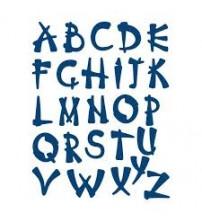 Die-Oriental Alphabet