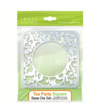 Die - Tea Party Square Base Die Set