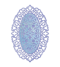 Die-Dutch Daisy Oval Doily