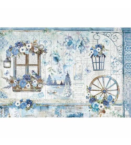 Decoupage Stamperia - Rice Paper 48x33 - Blue Land