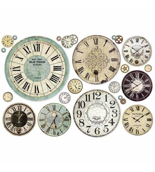 Decoupage Stamperia - Rice Paper 48x33 - Clock