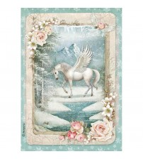 Decoupage Stamperia - A4 Rice Paper - Unicorn