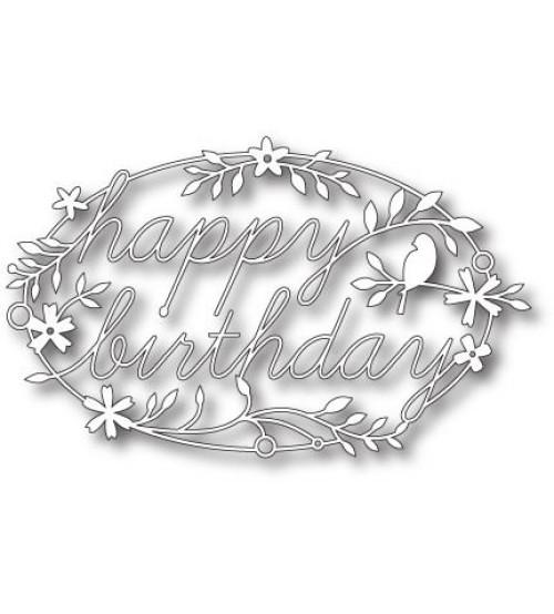 Die-Happy Birthday Tidings