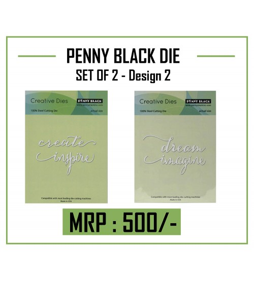 Die- PENNY BLACK CUTTING DIE - Set 2