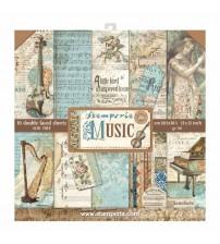 "Stamperia - Music 12""×12"" Scrapbook Papers"