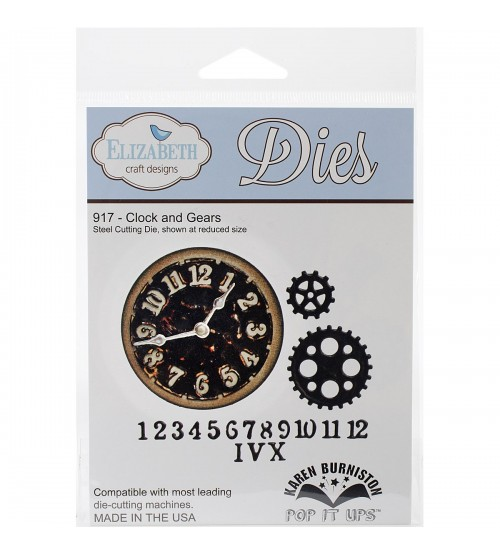 Die Elizabeth Design-Clock and Gears