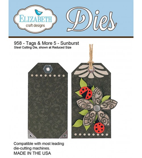 Die Elizabeth Designs Steel - Tags And More 5 - Sunburst