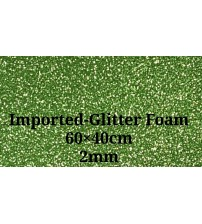 Foam-Light Green Glitter 2mm