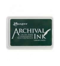 Ink-Archival Ink Pads- Library Green