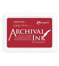 Ink-Archival Ink Pads- Red Geranium
