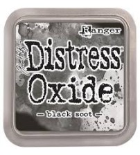 Ink-Distress Oxide Pads- Black Shoot