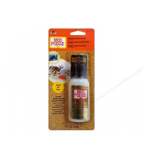Mod Podge-Gold Glitter - Dimensional Magic - 2 oz