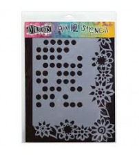 Stencils - Dylusions - Dotted Flower Large