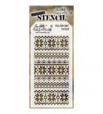 Stencils-Tim Holtz Layering Stencil: Holiday Knit
