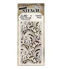 Stencils-Tim Holtz Layering Stencil: Flourish