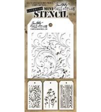 Stencils-Tim Holtz Mini Layering Stencils - Set 10