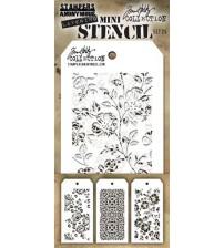 Stencils-Tim Holtz Mini Layering Stencils - Set 25