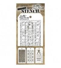 Stencils-Tim Holtz Mini Layering Stencil - Set 16