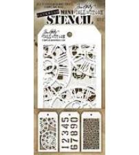Stencils-Tim Holtz Mini Layering Stencil - Set 2