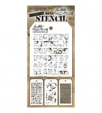 Stencils-Tim Holtz Mini Layering Stencil - Set 3