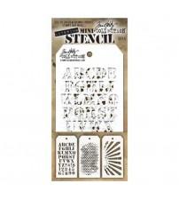 Stencils-Tim Holtz Mini Layering Stencil - Set 5