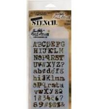 Stencils-Tim Holtz Layering Stencil - Typo