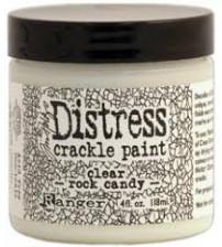 Distress Crackle Medium Paint Clear Rock Candy 4oz. jar