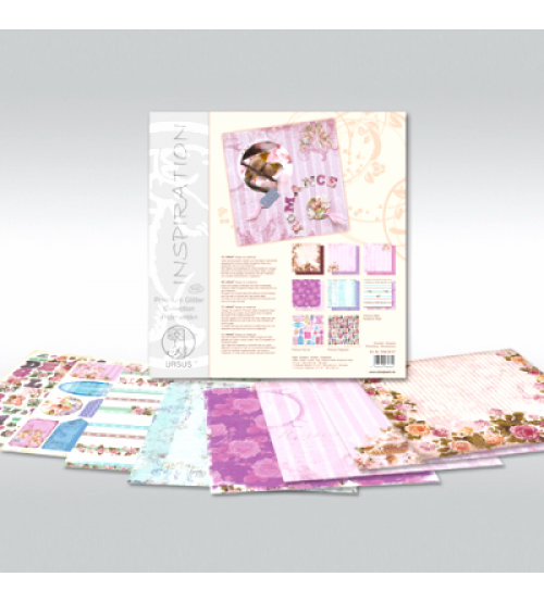 URSUS - Romance - Glitter Scrapbook Paper