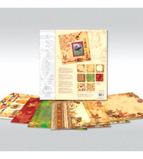 URSUS - Autumn - Glitter Scrapbook Paper