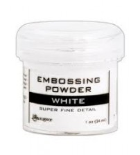 Medium & Paste-Embossing Powder Super Fine White