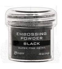 Medium & Paste-Embossing Powder Super Fine Black
