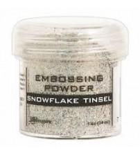 Medium & Paste-Embossing Powder Snowflake Tinsel