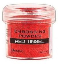 Medium & Paste-Embossing Powder Red Tinsel