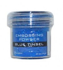 Medium & Paste-Embossing Powder Blue Tinsel