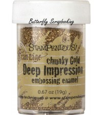 Stampendous- Deep Impressions Chunky Embossing Enamel Gold