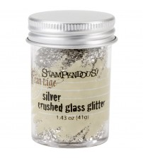 Stampendous Glass Glitter 1.43 Ounces-Silver