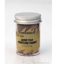 Stampendous Frantage -Aged Rose Emboss Enamel