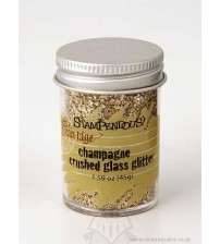 Stampendous Glass Glitter 1.43 Ounces-Champagne